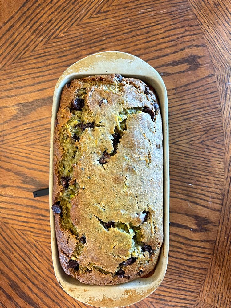 Image of Place the loaf pan in the center of the preheated...